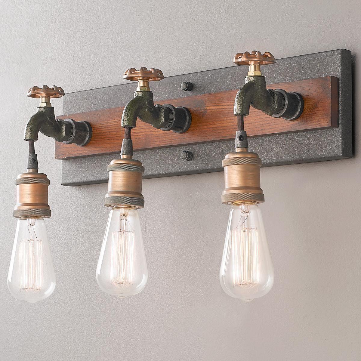 Dripping Tap Bathroom Light 3 Lights Rohr Beleuchtung Flaschenleuchten Und Kupfer Beleuchtung