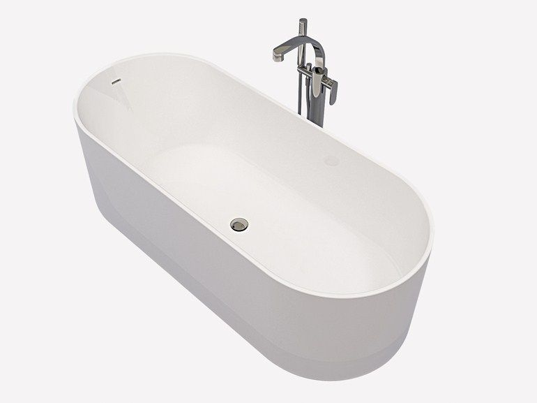 Vasca Da Bagno Usate : Vasca da bagno ovale in pietraluce oval by ceramica flaminia