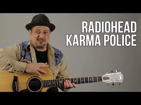 Radiohead Karma Police Easy Beginner Acoustic Songs On Guitar