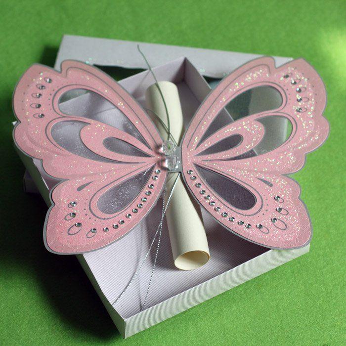 Butterfly Wedding Invitation Love This Idea Too Cute Keywords Butter Butterfly Wedding Invitations Butterfly Invitations Cheap Wedding Invitations Diy