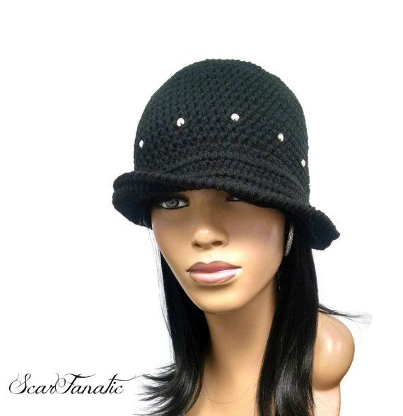 120670ed1eb PATTERN ONLY Another Easy Crochet Cloche Flapper Hat Silver Stud  instructions included Instant Downl