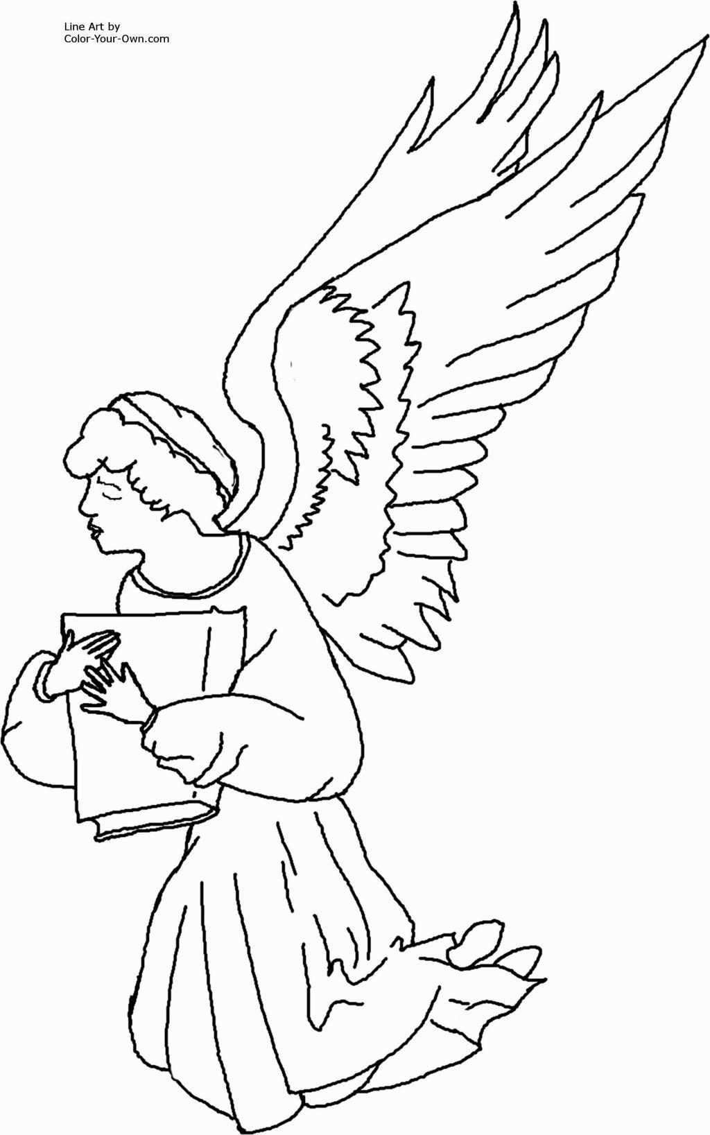 Angel Coloring Sheets