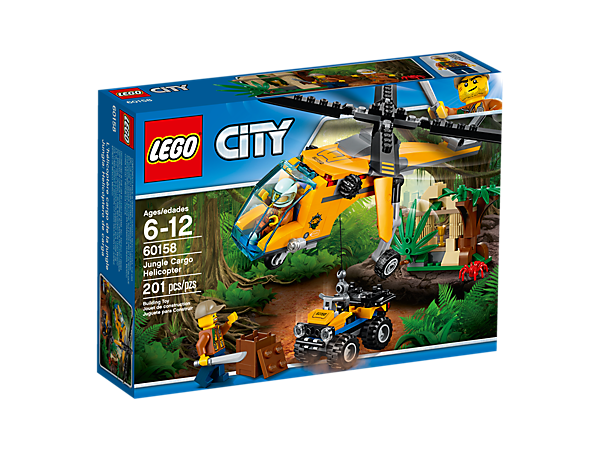 Jungle Cargo Helicopter 60158 | City | Buy online at the