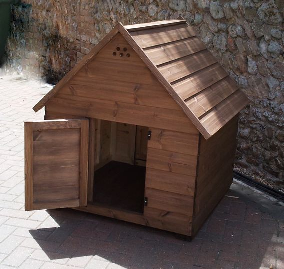 Maybe Just A Big Doghouse With Hinge Roof And Big Door For