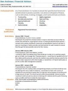 financial advisor cv example | Financial Advisor | Job ...