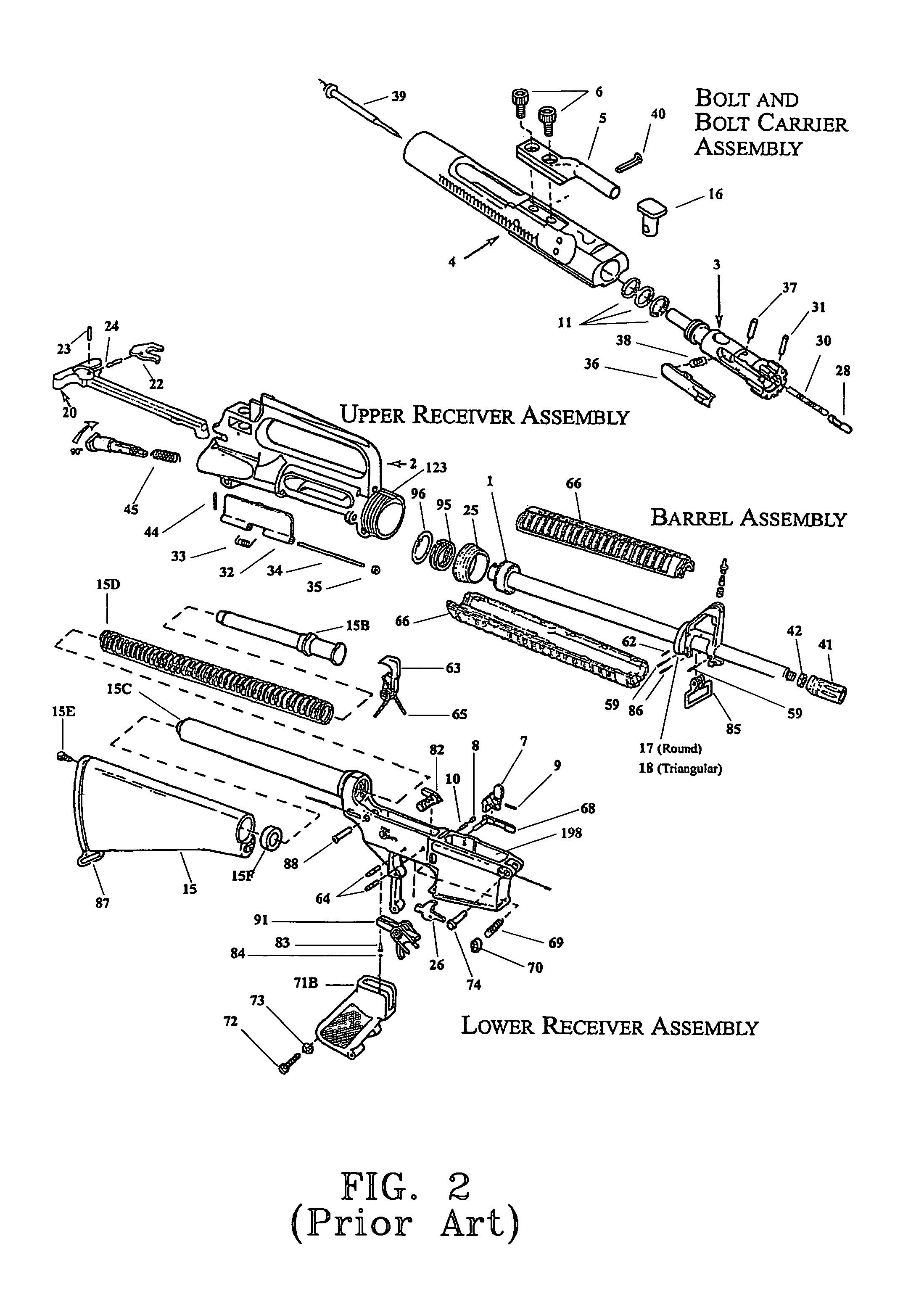 AR-15 Upper Receiver Exploded View Diagram | survival | Pinterest ...
