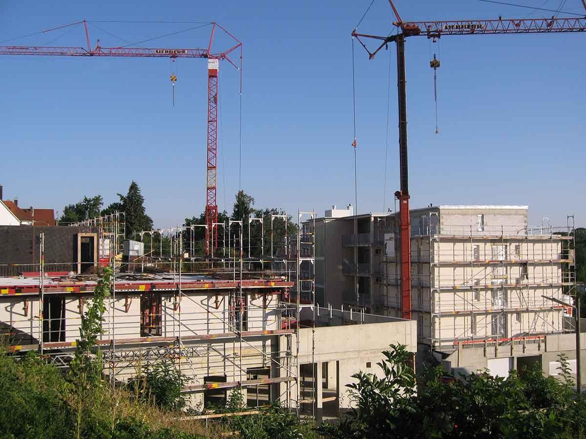 Residenz Bellevue während der Bauphase