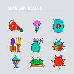 Garden Farm flat vector icon