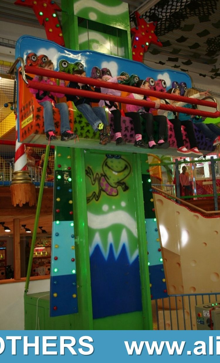 Competitive price amusement free fall frog jumping tower