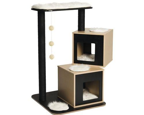 kratzbaum vesper v double schwarz bei hornbach kaufen. Black Bedroom Furniture Sets. Home Design Ideas