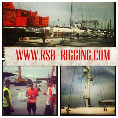 RSB Rigging Solutions unstep heaviest ever rig to come down in #PalmadeMallorca at @STP_Palma. @PeriniNavi #SYAsahi #meettheriggers www.rsb-rigging.com