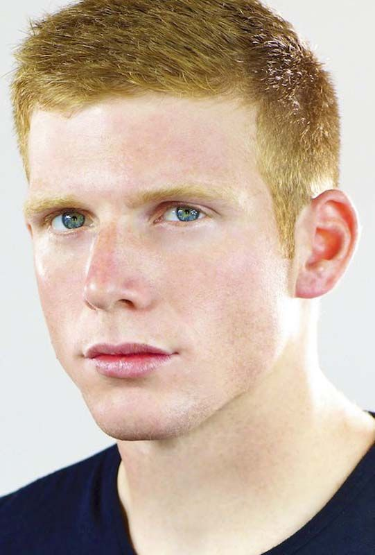 A classic short men\'s haircut on a man with red hair. on Haircuts ...