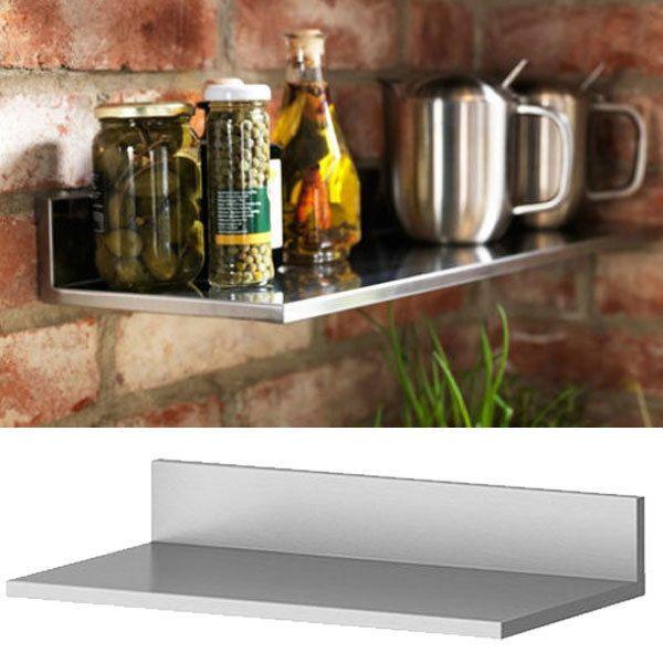Rvs Wandplank Ikea.Stainless Steel Kitchen Wall Shelf Spice Rack Organizer Storage Ikea