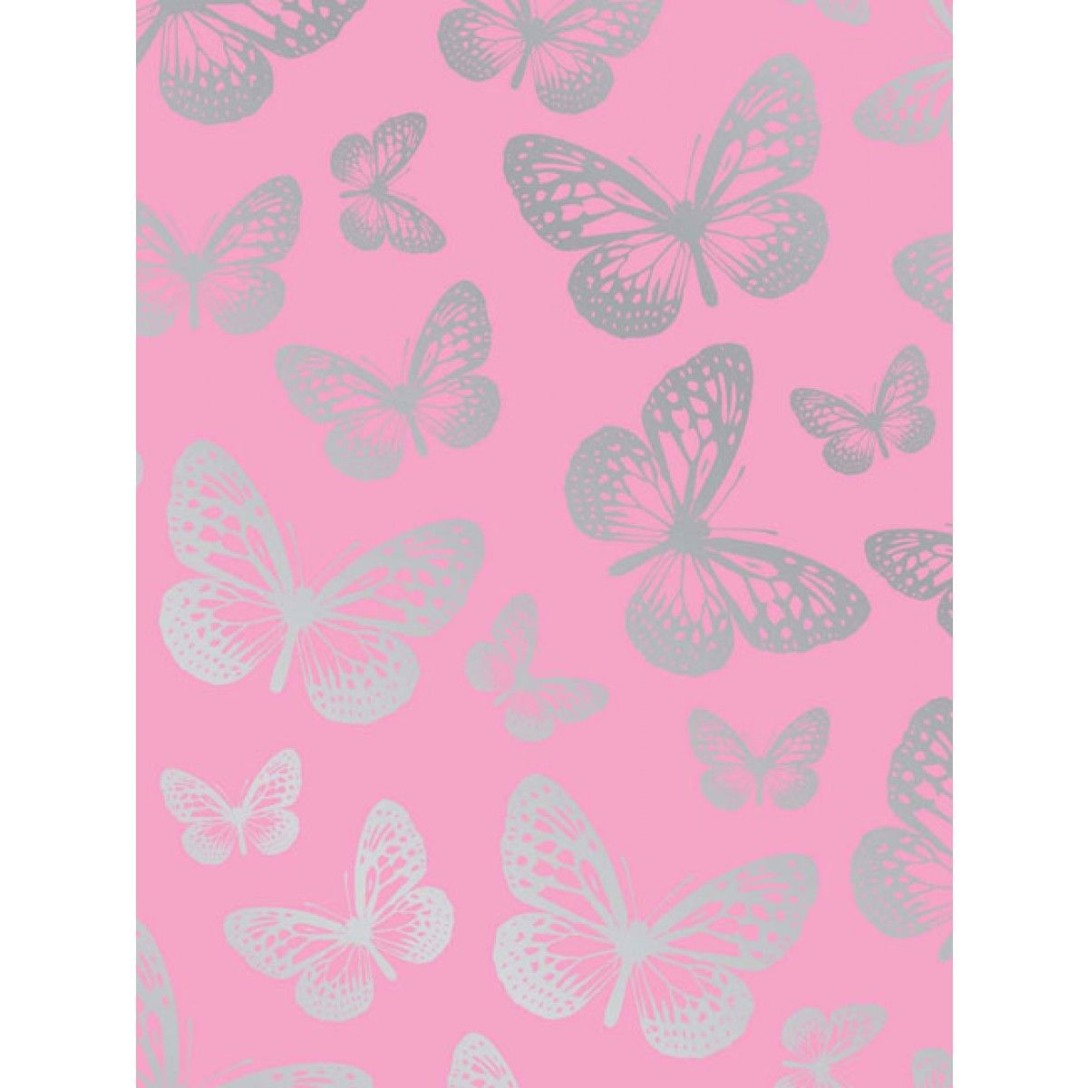 Butterfly Pink Wallpaper 10m