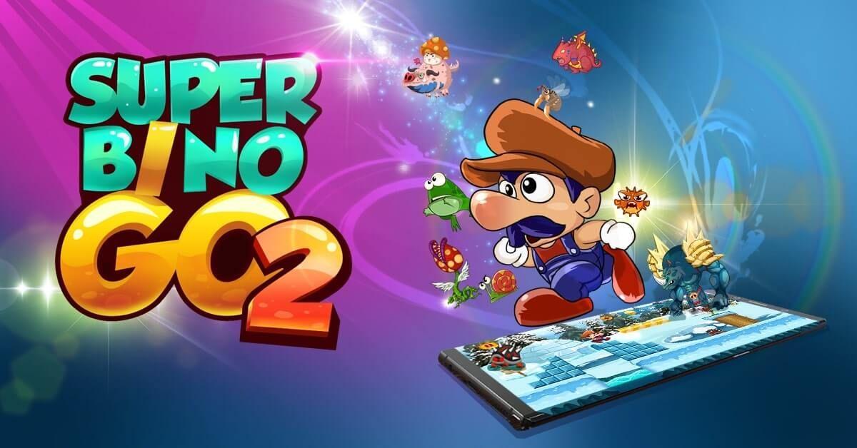 Download Super Bino Go 2 Mod Apk V1 0 5 Unlimited Money Go Game Save The Princess School Adventure