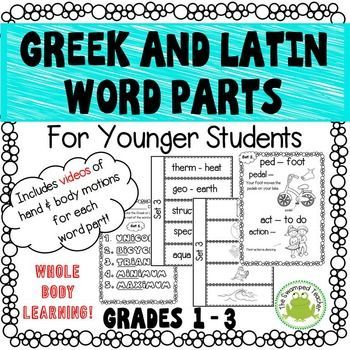 Greek and Latin Word Parts for Younger Students | Vocabulary instruction,  Teaching latin, Teachers pay teachers seller