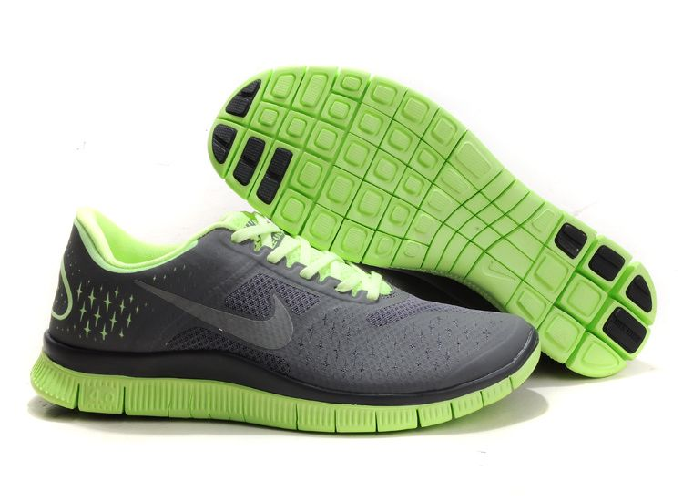 Nike Free 4.0 V2 Mens Running Shoes Grey Green