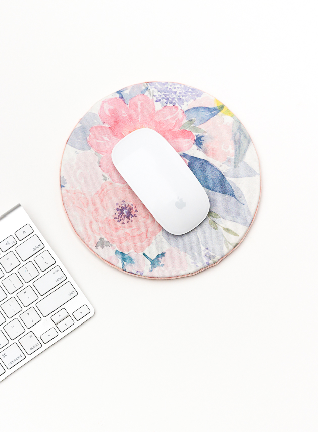 Diy Floral Mouse Pad For Spring The Crafted Life Diy Mouse Pad Dollar Store Diy Projects Dorm Diy