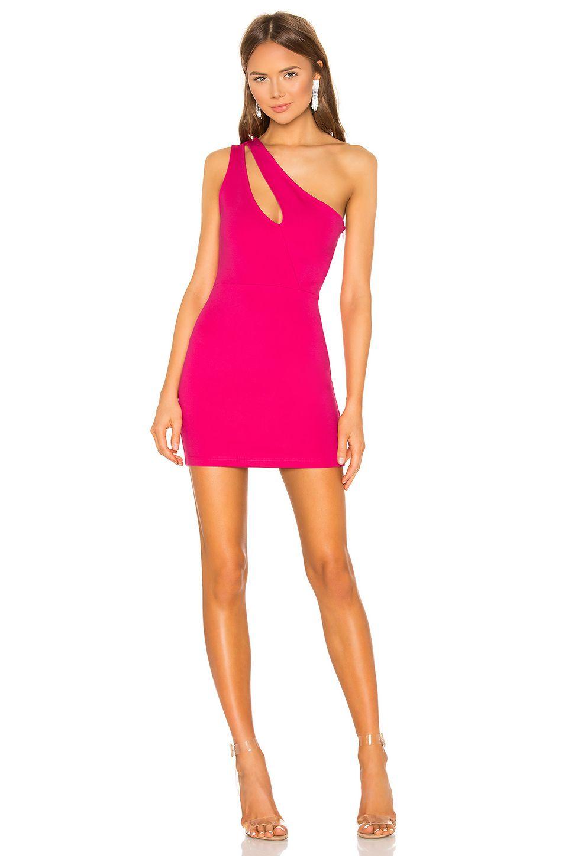 28879f0f9f55d superdown Nava Asymmetrical Mini Dress in Hot Pink | REVOLVE | pink ...