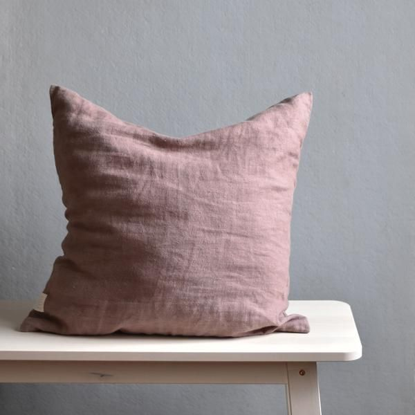 Brise Accent Chair Pillow Case: Linen Cushion Cover, Ashes Of Rose