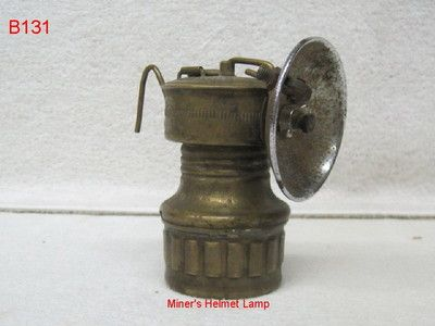 Vintage Brass Carbide Coal Miner Helmet Lamp Lantern Safesport Butterfly Antique Coal Miners Coal Mining Coal