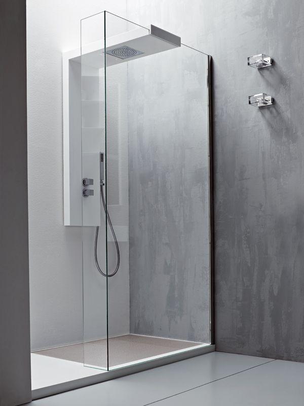 Modular Glass Shower Wall Panel Argo By Rexa Design Bathroom Shower Glass Shower Wall Shower Panels Glass Shower
