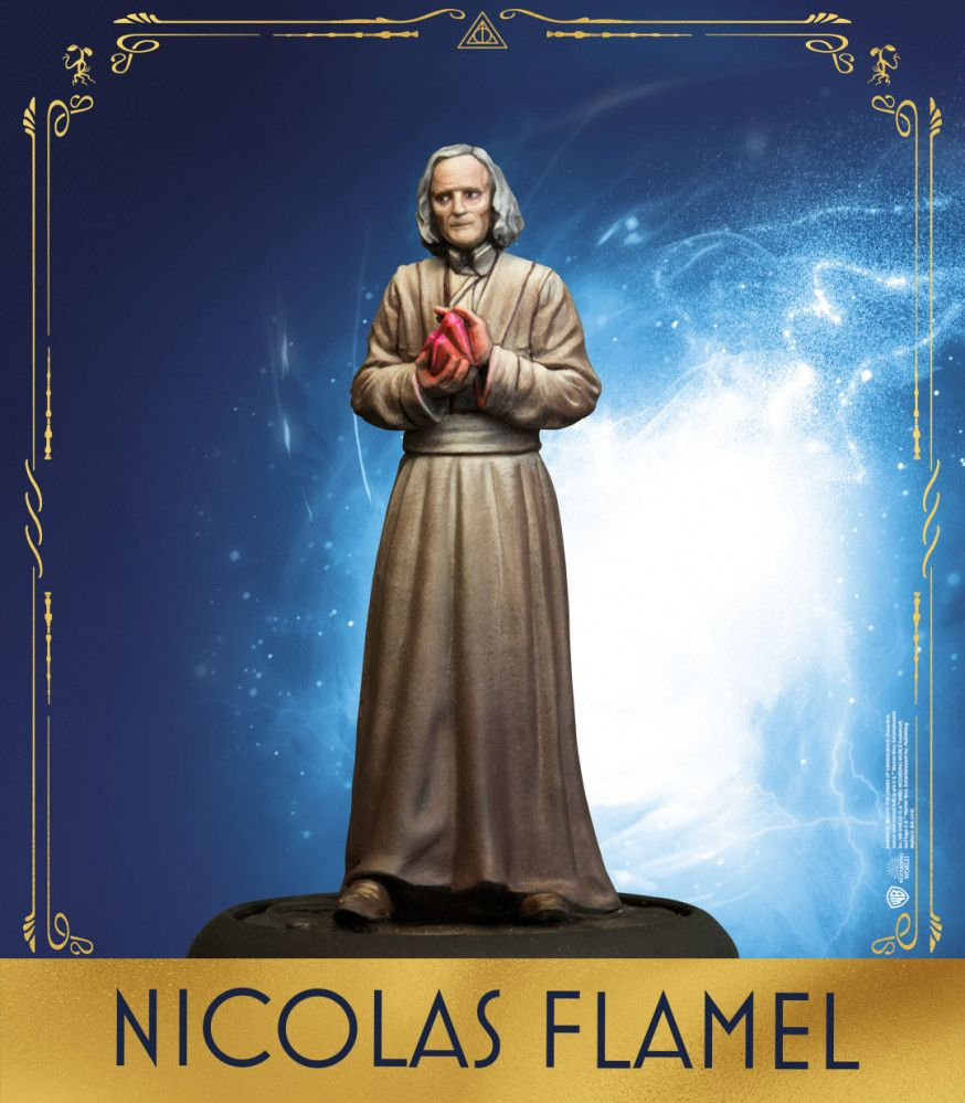Tabletop Harry Potter Miniature Game Theseus Scamander Nicolas Flamel Harry Potter Miniatures Harry Potter Characters