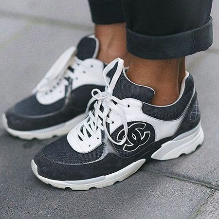 CHANEL CC Logo Sneakers – Only Vogue   CLOTHES!!!!!!!!!!   Pinterest ... 89f6538394e