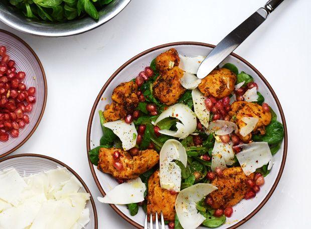 ziegenkäse-granatapfel-salat