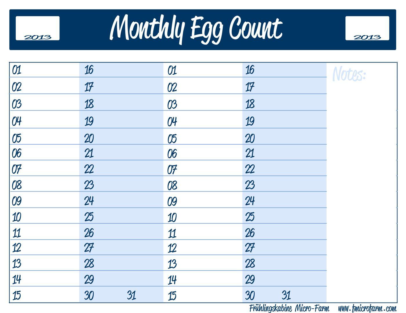 Egg Laying Printable