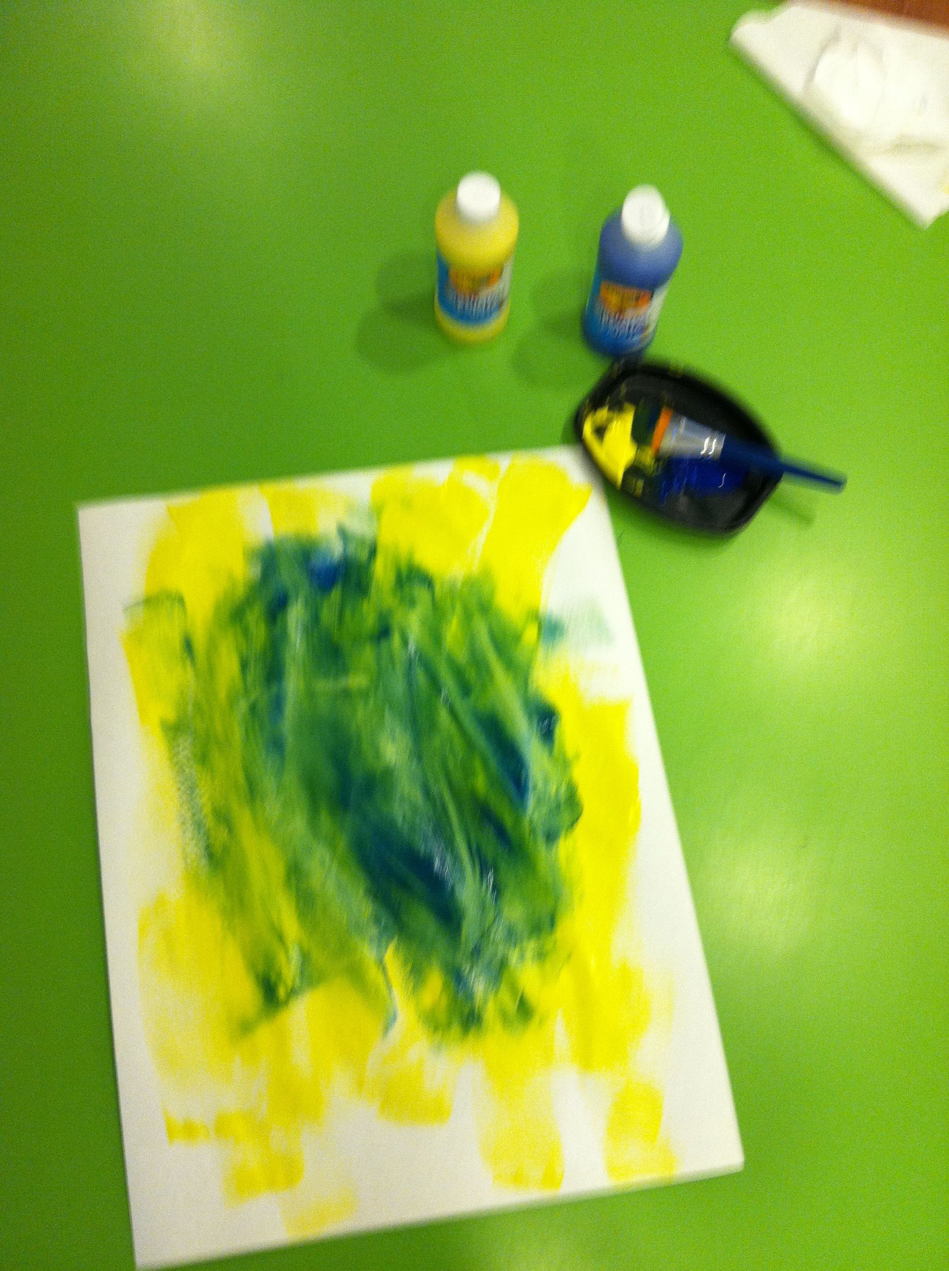 Color mixing Step 2: Add a second primary color and\