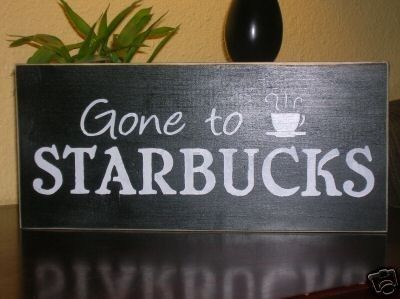 Decorative Wooden Kitchen Signs Fair Gone To Starbuck Coffee Wood Sign Coffee Decor Kitchen Sign Review