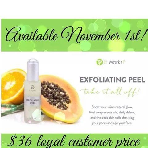 New Product Launch It Works Global Available $60 retail/ ✔$36 Loyal Customer •Aloe Encapsulated Microbeads •Glycolic Acid •Lactic Acid •Perfection Peptide 3 (tri peptides for skin renewal cell turnover •Botanical Fruit Acid (pineapple, papaya to name a few!) ☆ ANTI-AGING ☆ SOFTER SKIN ☆ SMOOTHER SKIN ☆ BRIGHTER SKIN (SEE YA AGE SPOTS!!) ☆ CLEAR SKIN ☆ YOUTHFULL GLOW ☆ MINIMIZES PORES  Contact Me Today: Diamondwrapgirl@gmail.com