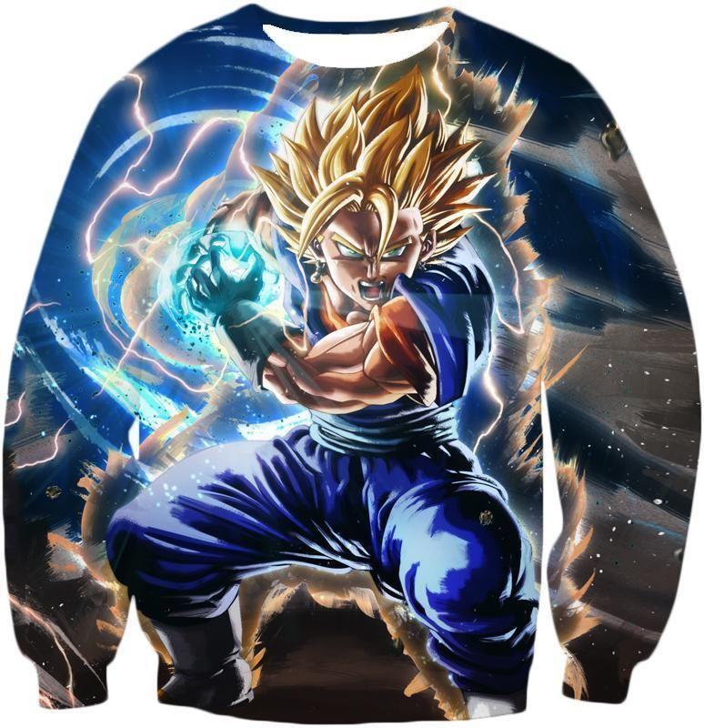 Dragon Ball Z Sweatshirt - Super Vegito Final Kamehameha Sweatshirt - Sweatshirt / XL