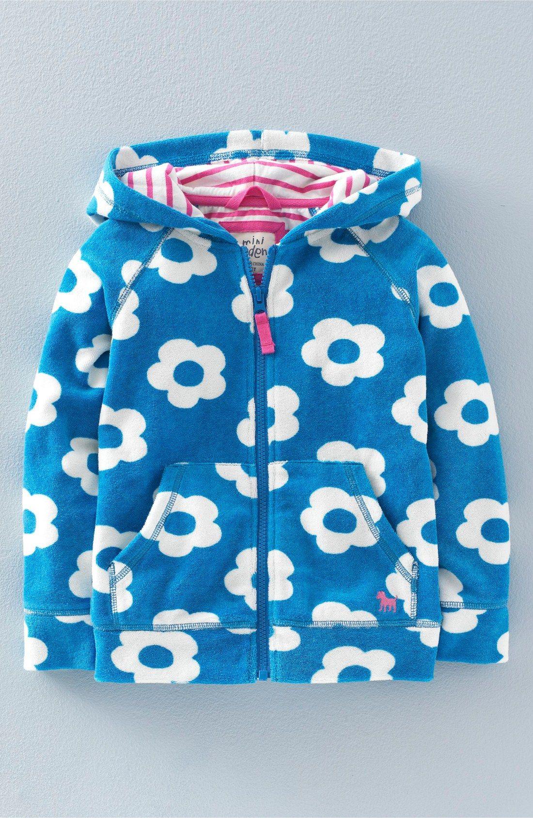 8a73ef7e19 Mini Boden 'Towelling' Full Zip Hoodie (Toddler Girls, Little Girls & Big  Girls)