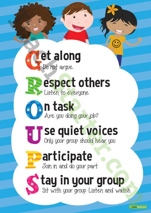 display this groups acrostic poster in your classroom