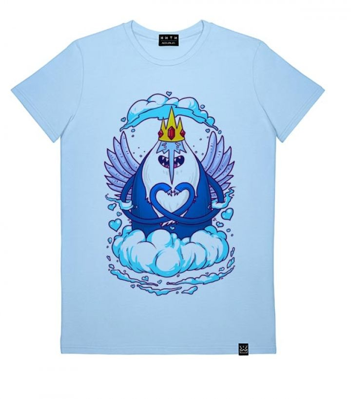Мужская футболка с принтом Снежный король – купить в ...