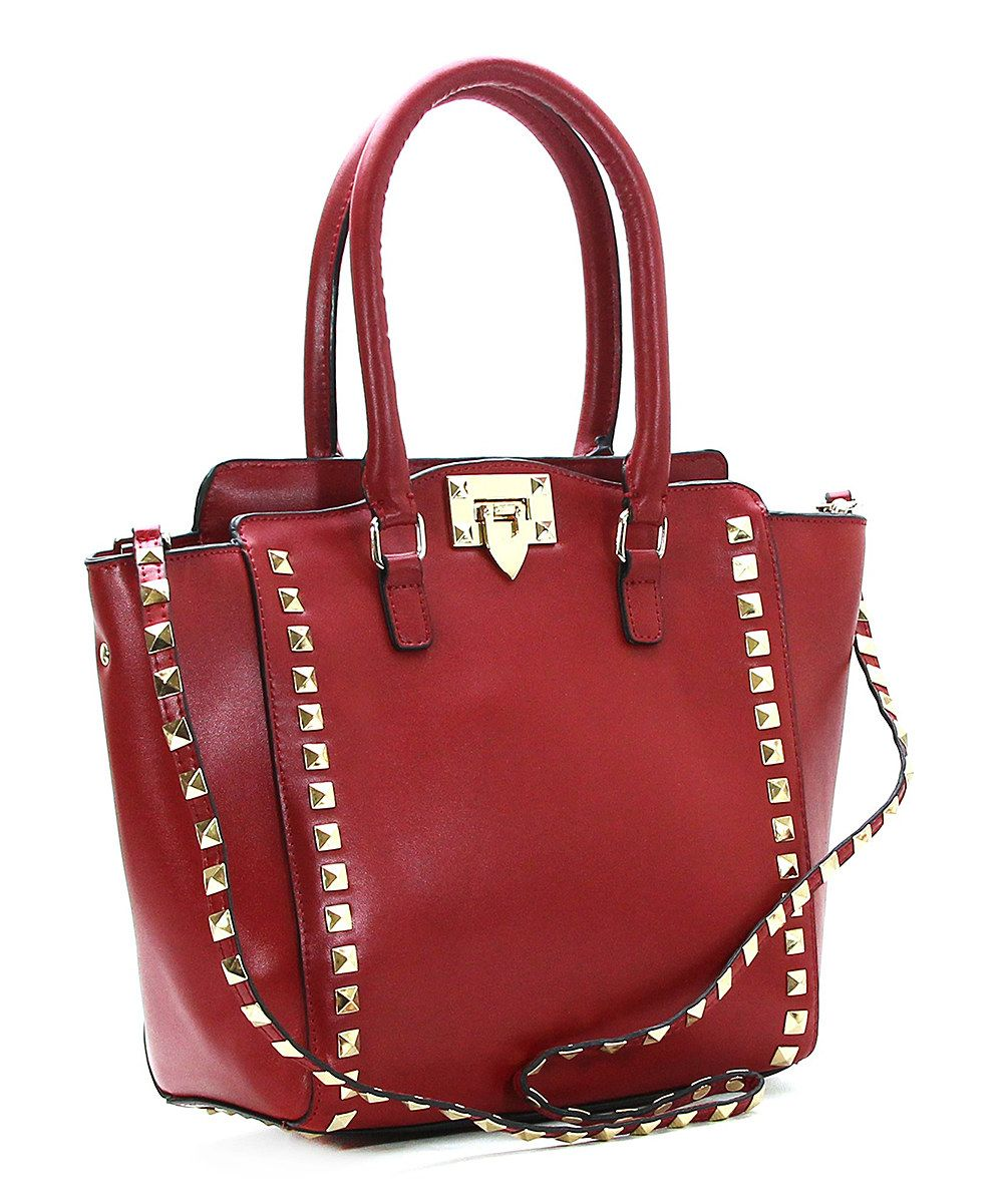 Look at this Red Leather Voyage De Noces Tote on #zulily today!