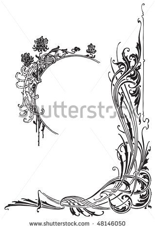 Art deco borders simple antique frames border design book of shadows also pin by heather adele tate on pinterest rh