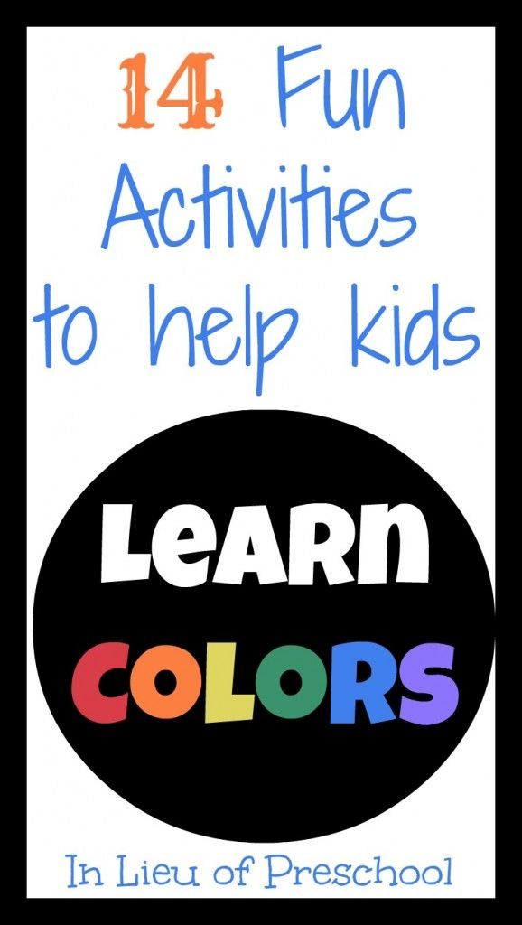 Preschool Color Activities On Pinterest Preschool Color Colour Activities For Children