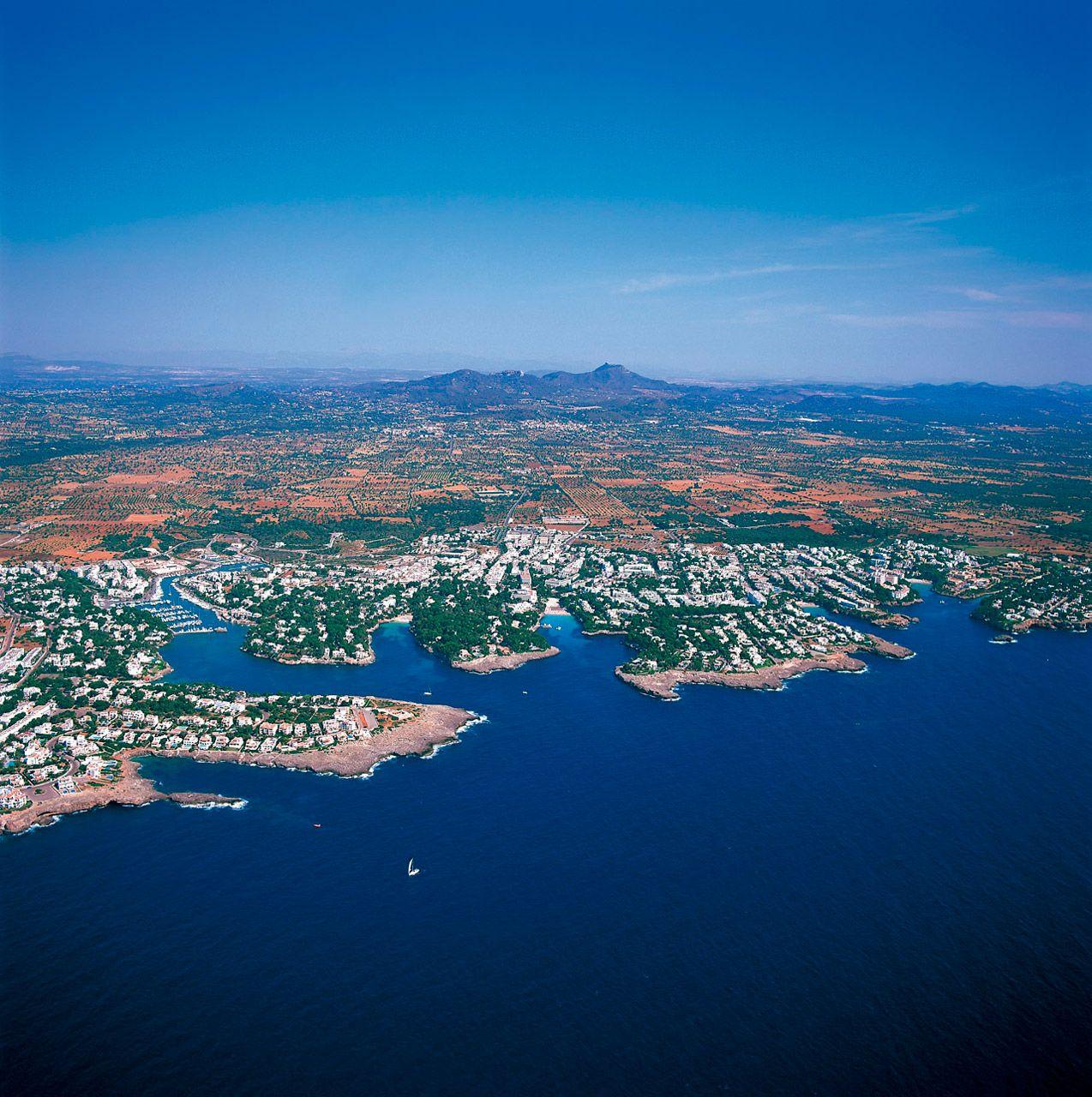 Cala dOr aerial view Island of Mallorca Spain Mallorca