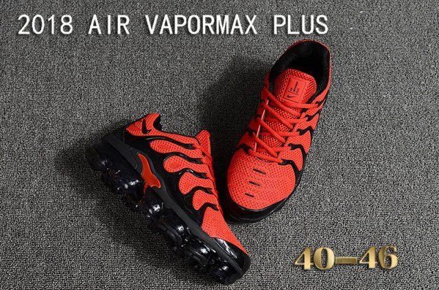 b929bdd9d1e Mens Nike Air Vapormax Plus KPU TN + 2018 October Red Black Casual Sneakers