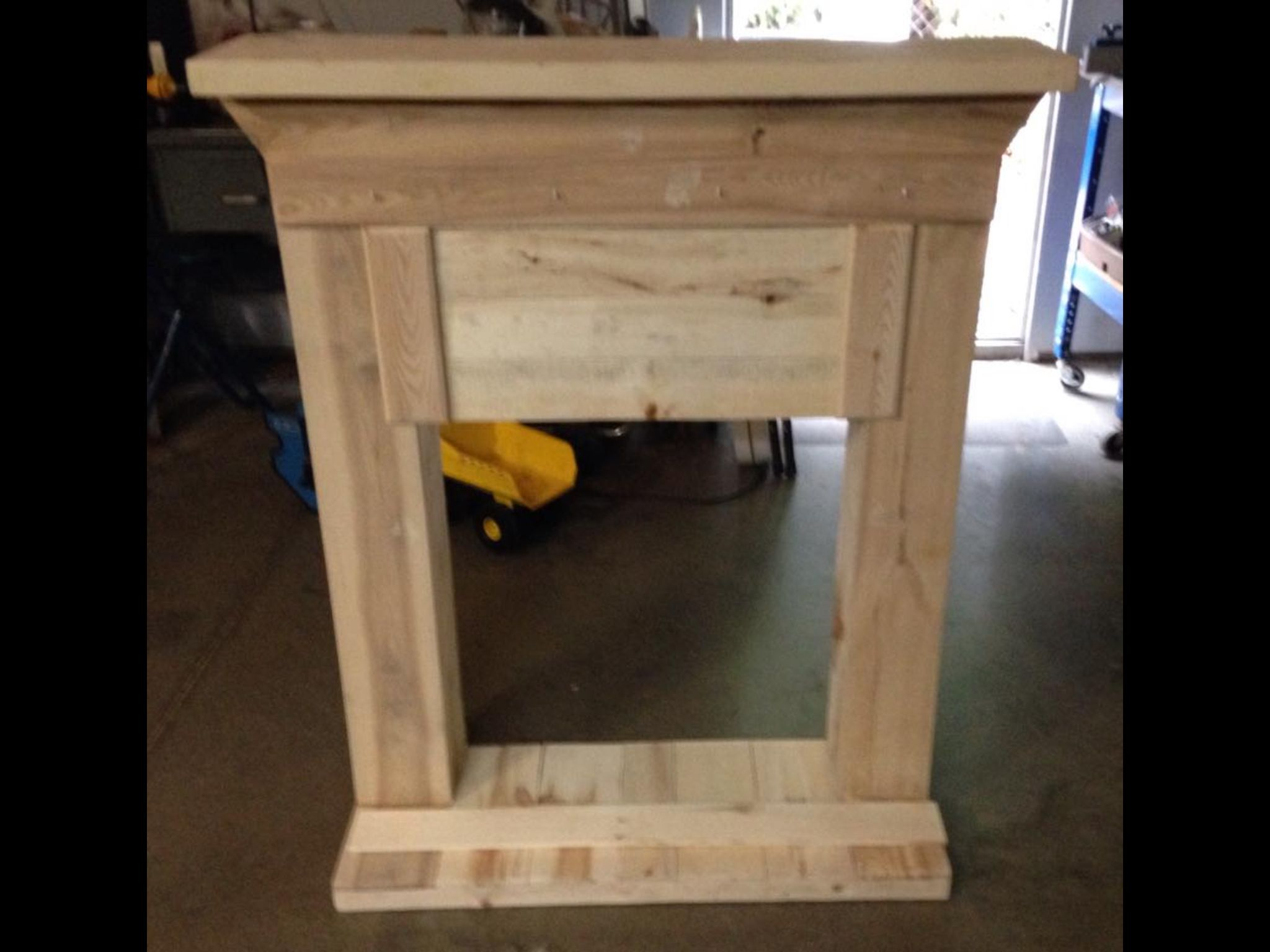 Faux Fireplace  Made From Old Pallets