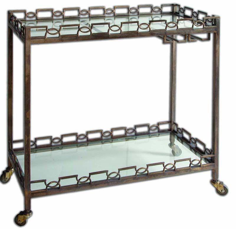 Uttermost 24307 Nicoline Iron Serving Cart