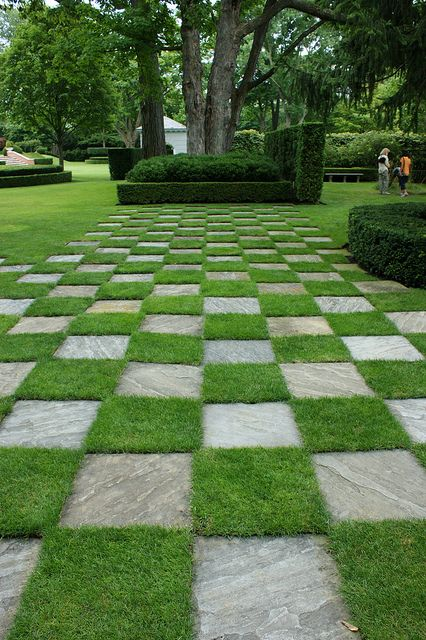 Checkerboard Lawn 1 Exterior Yard Driveway Baby In 2019