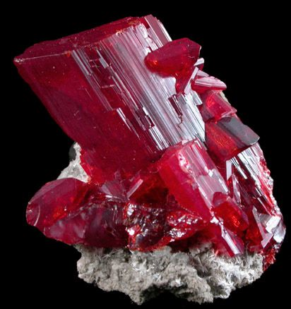 Outstanding Gemmy Realgar Crystal - The Mineral and Gemstone Kingdom