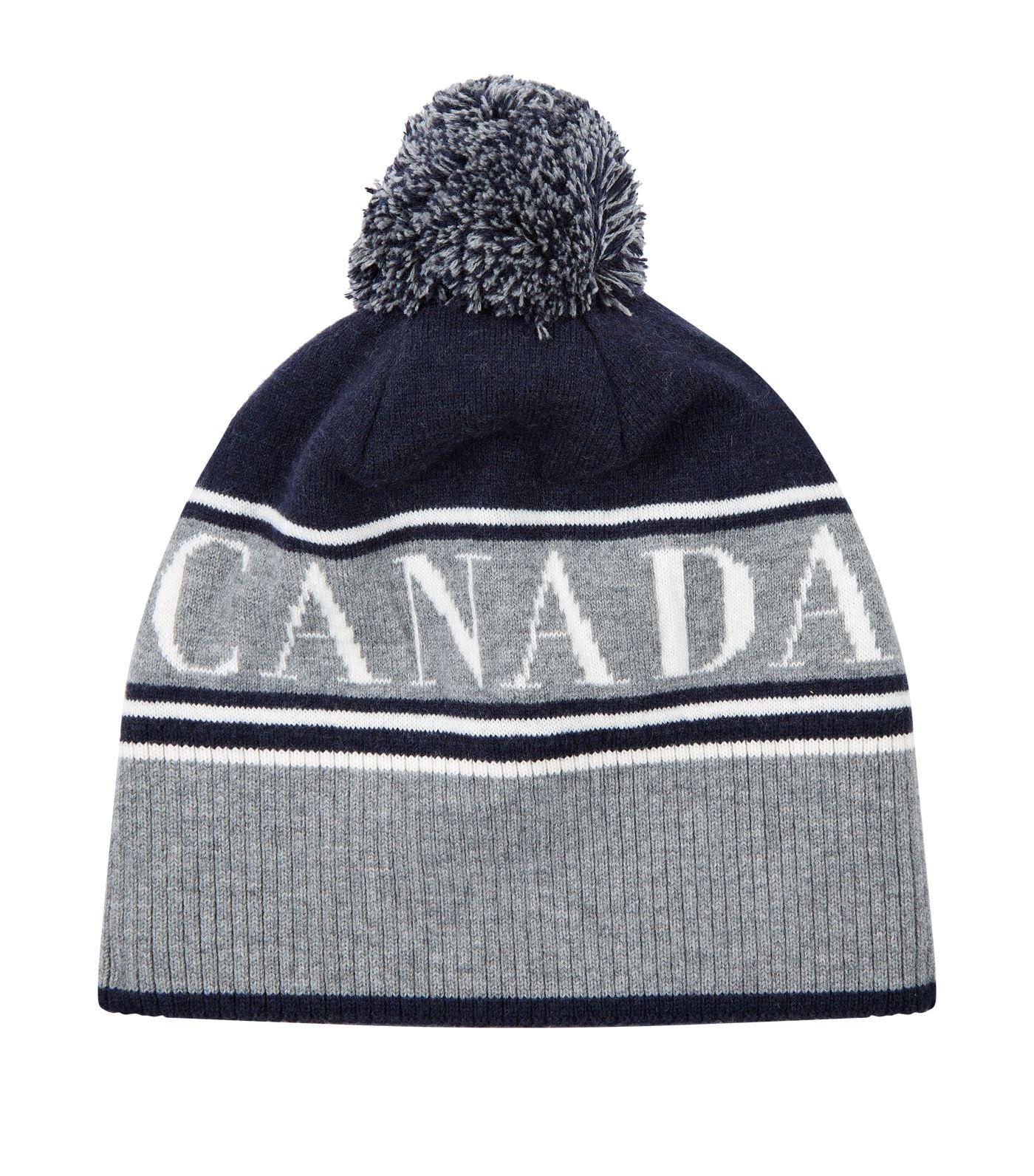 9d9cacccafe CANADA GOOSE LOGO POM POM BEANIE HAT.  canadagoose