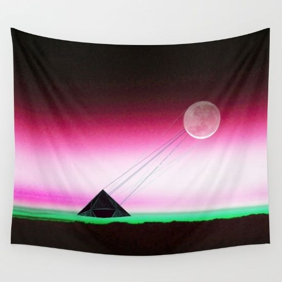 'Two way traffic' Be careful what you wish for.  #society6 #tapestries #space #sci-fi