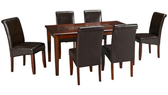 Jofran Mosaic Tile 7 Piece Dining Set Jordan S Furniture