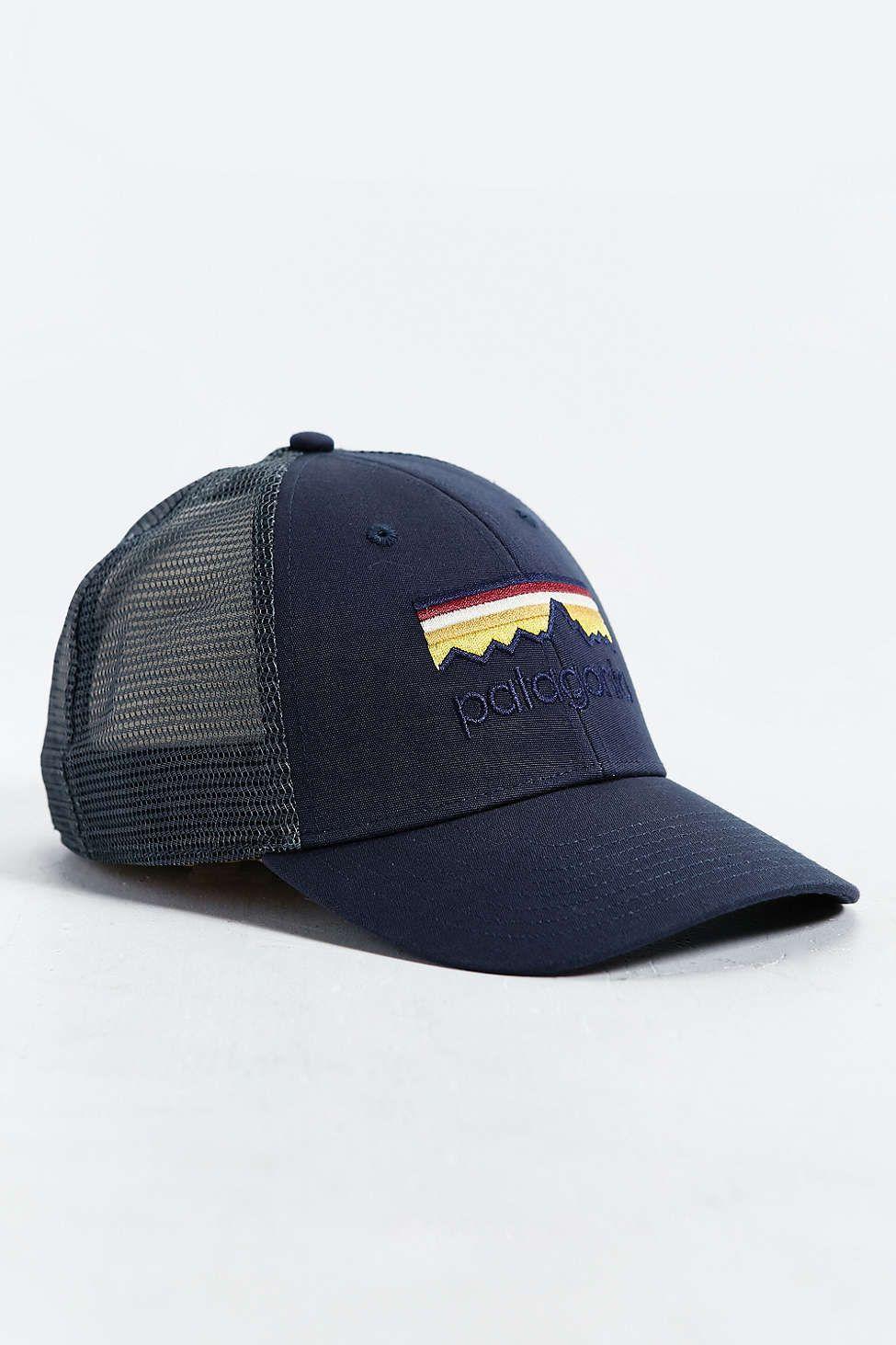 Patagonia Line Logo Lo-Pro Trucker Hat  870f995599a